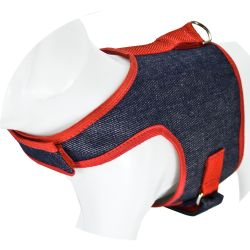 Peitoral e Guia Dog Coat JEANS